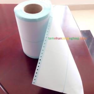 Decal đục lỗ mép giấy